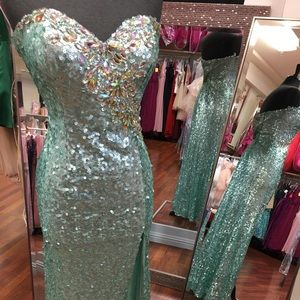 All sequin gown. Hollywood style